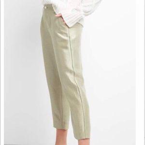 GAP Gold Metallic Girlfriend Crop Dress Pant